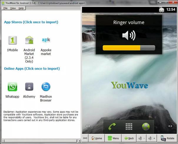 برنامج youwave for android للكمبيوتر