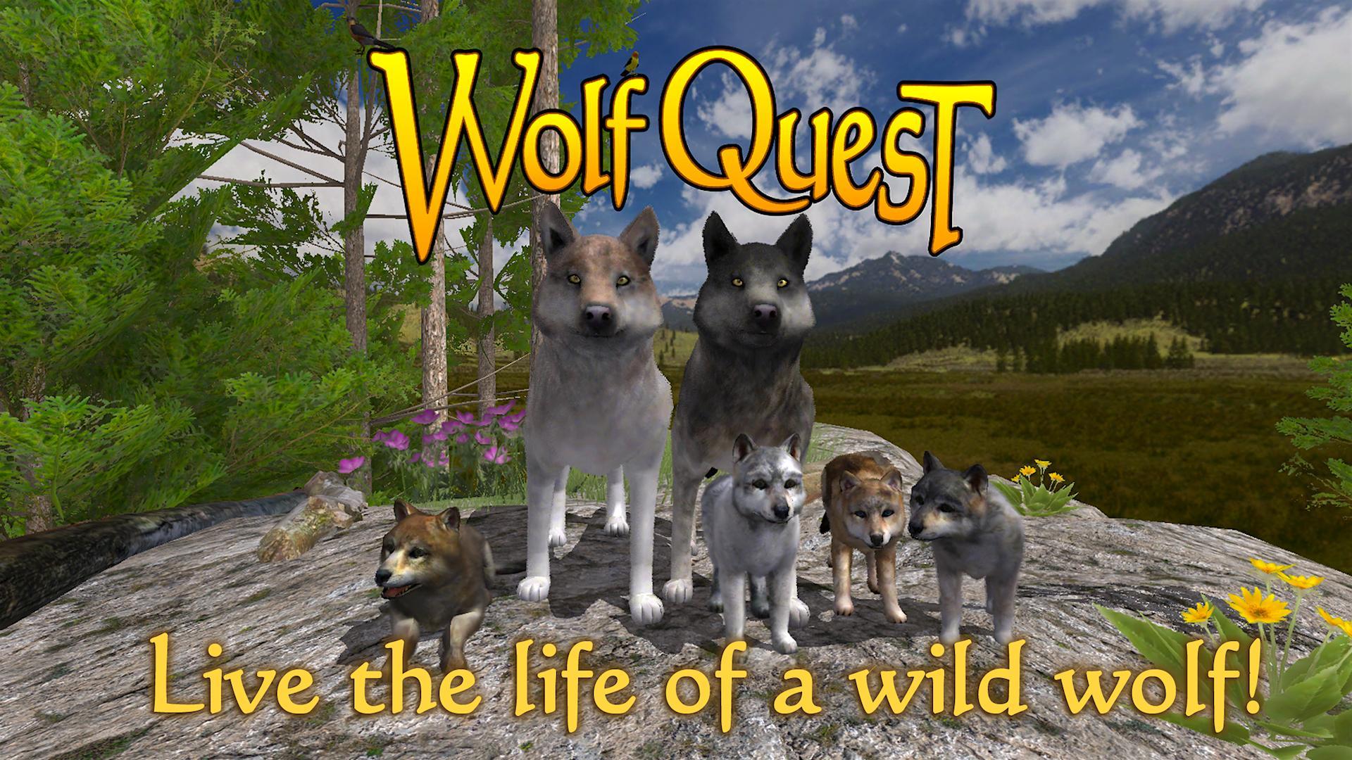 تحميل لعبة حياة الذيب WolfQuest للاندرويد مجانا